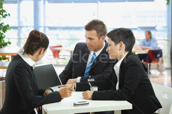 Business talking at cafe Stock photo © nyul