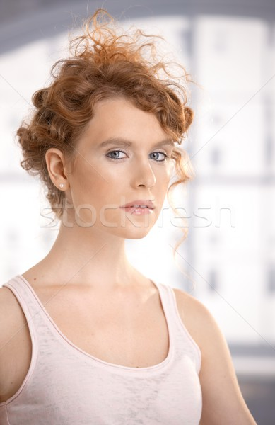 Attractive female dressed for workout Stock photo © nyul