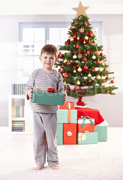 Feliz pequeño nino Navidad día Foto stock © nyul
