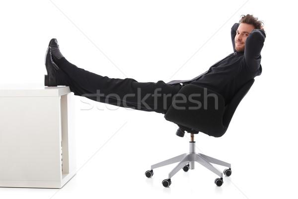 Mosolyog üzletember elvesz fiatal törik pihen Stock fotó © nyul