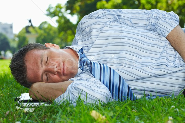 Relaxed businessman outdoor Stock photo © nyul