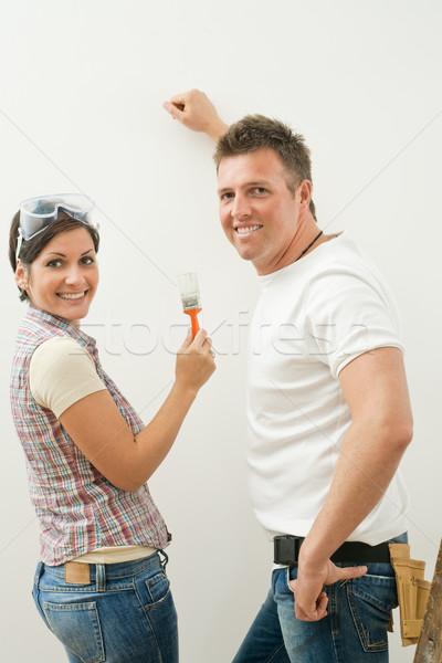 Happy couple improving home Stock photo © nyul