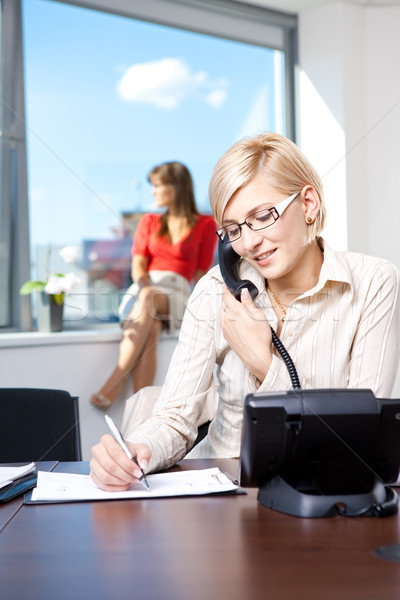 Young businesswoman on phone Stock photo © nyul