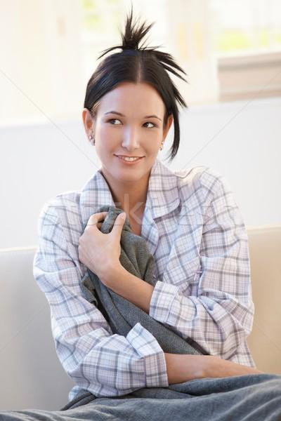 женщину улыбаясь улыбка Сток-фото © nyul