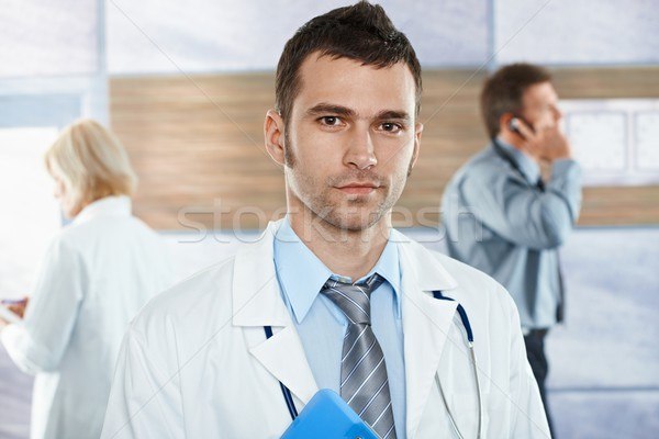 Doctor on hospital corridor Stock photo © nyul