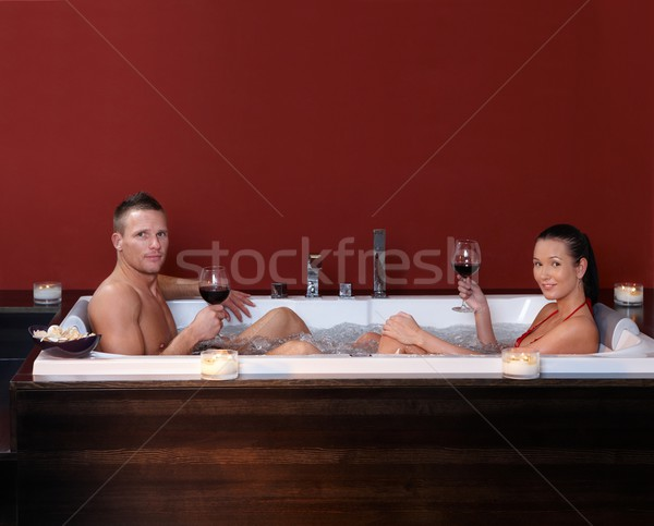 Couple in bubble bath Stock photo © nyul