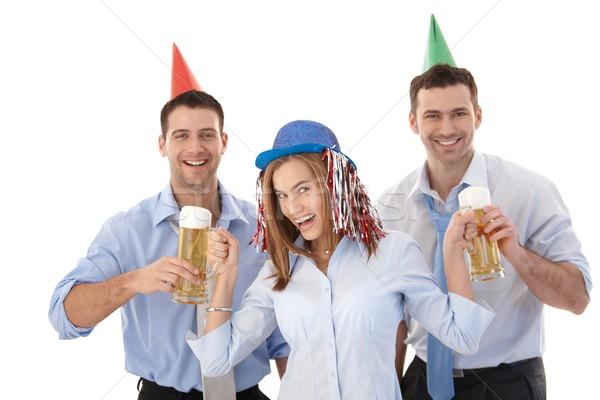 Stok fotoğraf: Parti · genç · çekici · eğlence · gülme