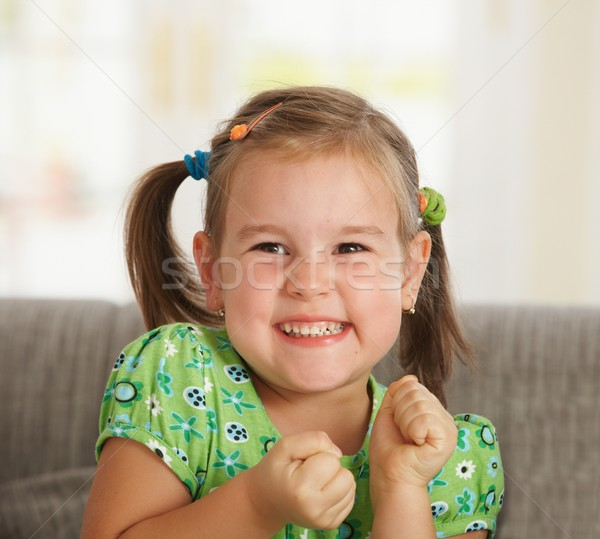 Portrait of excited little girl Stock photo © nyul