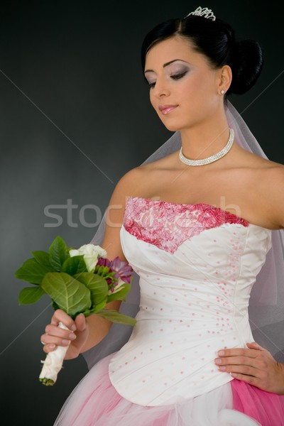 Bride with flowers Stock photo © nyul