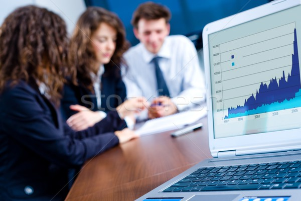 Stock photo:  Business progress