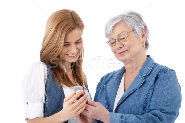 Moeder dochter naar foto's senior aantrekkelijk Stockfoto © nyul