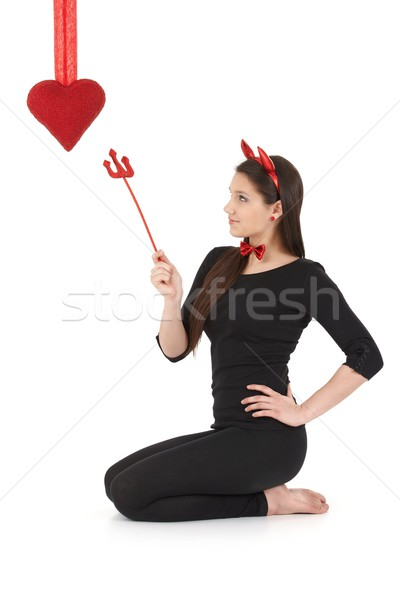 Pretty devil at valentine's day Stock photo © nyul