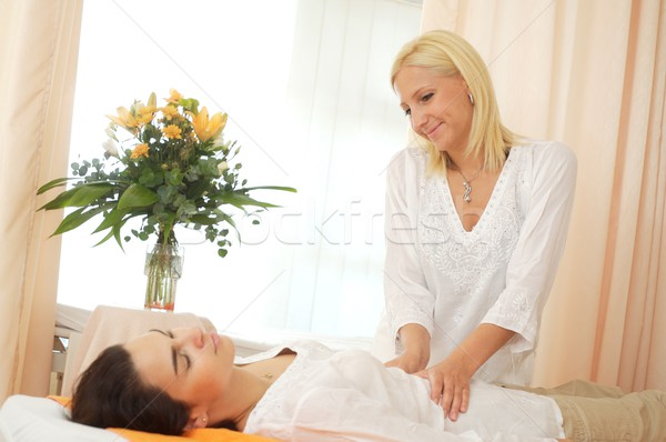 Massage in beauty salon Stock photo © nyul