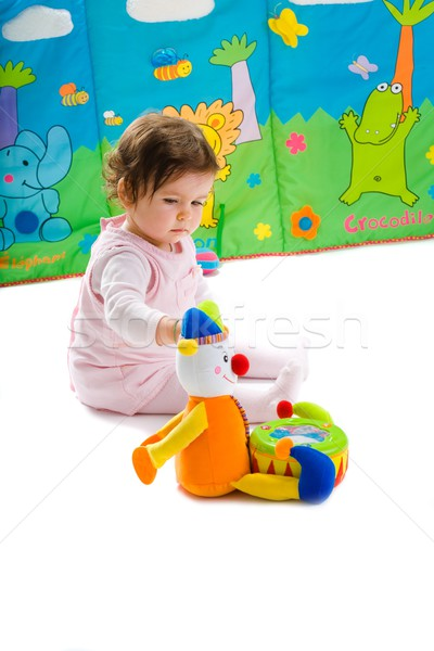 Stock photo: Baby playing isolated