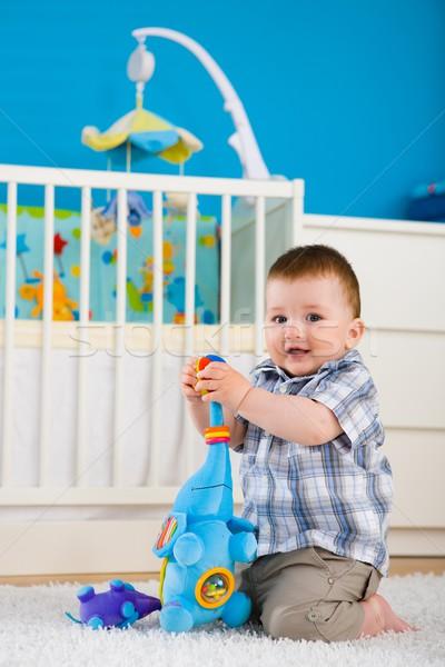 Baby spelen home gelukkig jongen Stockfoto © nyul