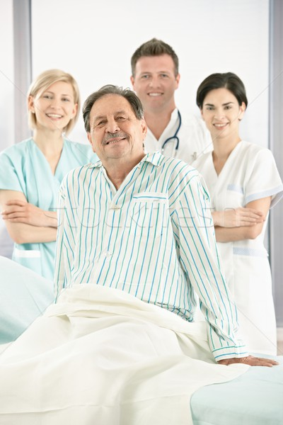 笑みを浮かべて 医療 チーム 患者 肖像 シニア ストックフォト © nyul