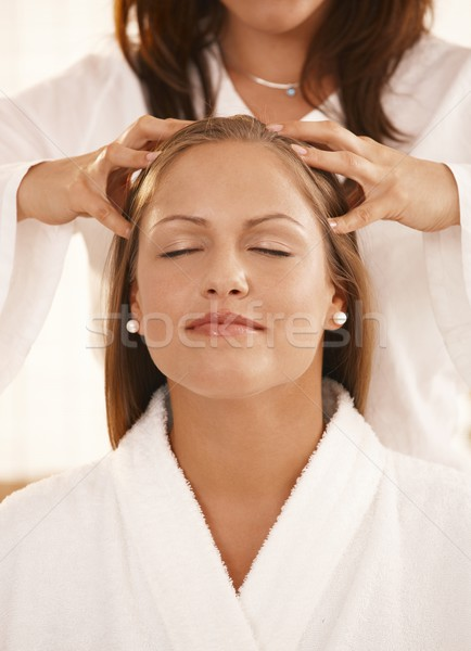 Closeup of head massage Stock photo © nyul