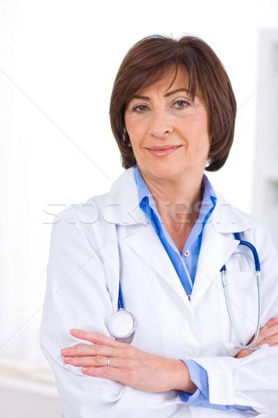 Femminile medico lavoro ufficio ritratto felice Foto d'archivio © nyul