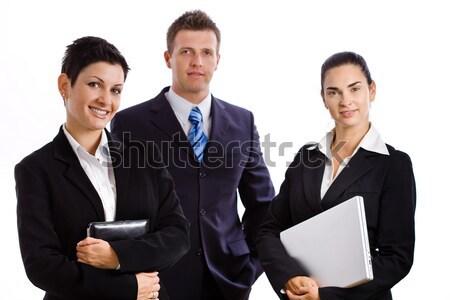Stok fotoğraf: Başarılı · iş · ekibi · yalıtılmış · takım · mutlu · iş · adamları