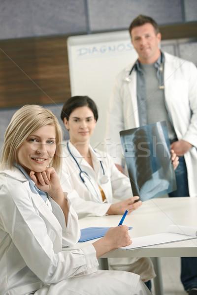 Stok fotoğraf: Doktorlar · danışman · xray · görüntü · portre · tıbbi