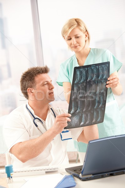 Doctor and nurse with x-ray image Stock photo © nyul