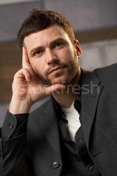 Portré fiatal profi közelkép férfi iroda Stock fotó © nyul