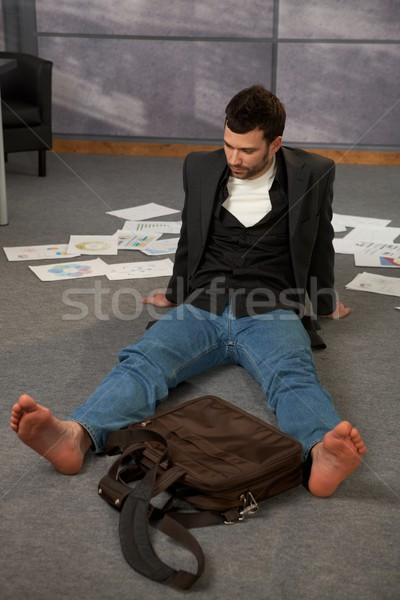 Trendy office worker on floor Stock photo © nyul