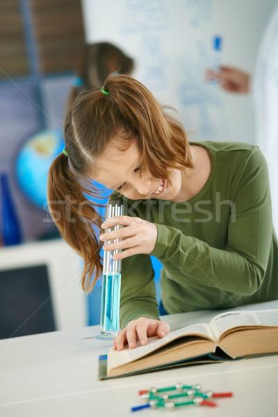 School girl with test tube Stock photo © nyul