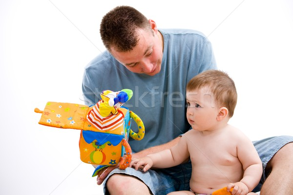 Father and baby playing Stock photo © nyul
