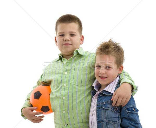 Boys with football Stock photo © nyul