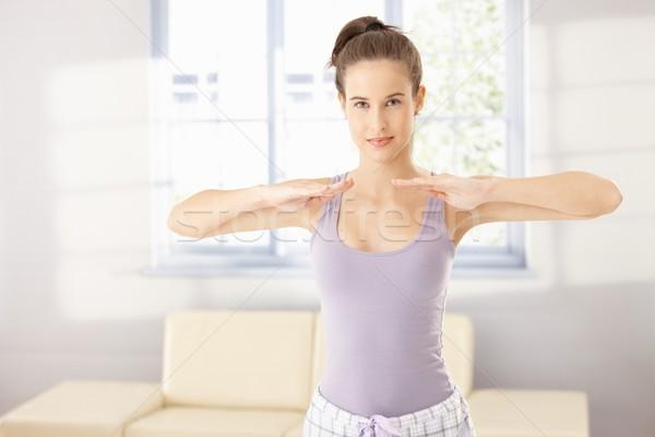 Pretty woman doing morning training Stock photo © nyul