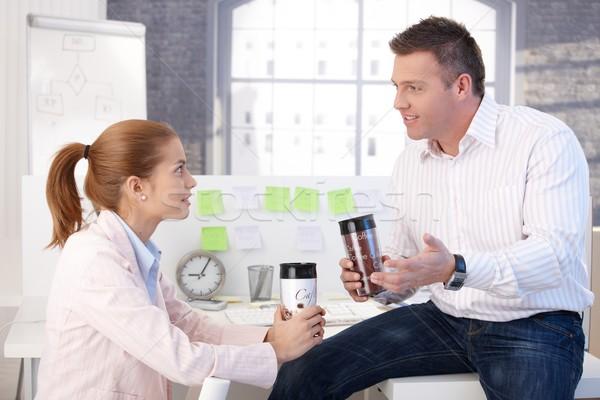 ストックフォト: 小さな · 同僚 · コーヒー · コーヒーブレイク · オフィス