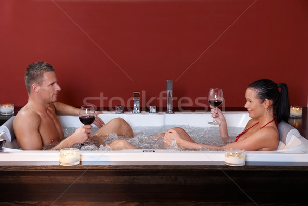 Wellness programma vergadering jacuzzi bad Stockfoto © nyul
