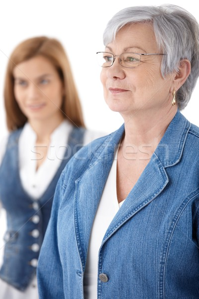 Portrait of senior woman in jeans Stock photo © nyul