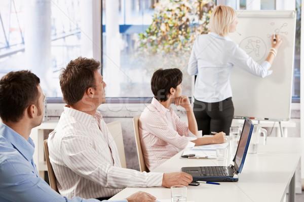 Business people on presentation Stock photo © nyul