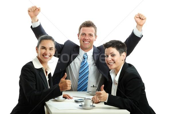 бизнеса успех счастливым бизнес-команды кофейный столик Сток-фото © nyul