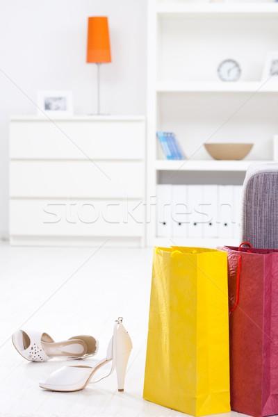 Shopping bags and shoe Stock photo © nyul