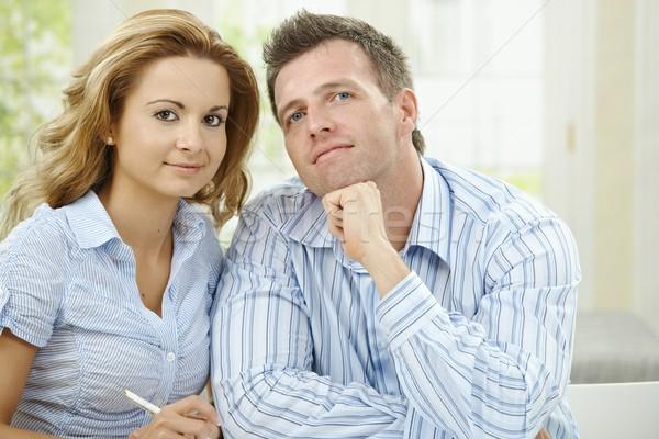 Love couple thinking Stock photo © nyul