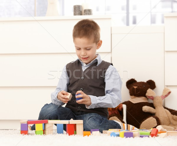 5 year old with toys Stock photo © nyul