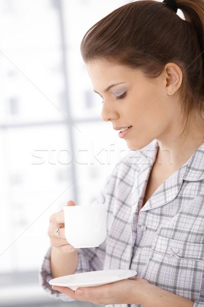 женщину утра кофе Сток-фото © nyul