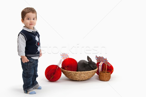 Little boy with Easter decoration Stock photo © nyul