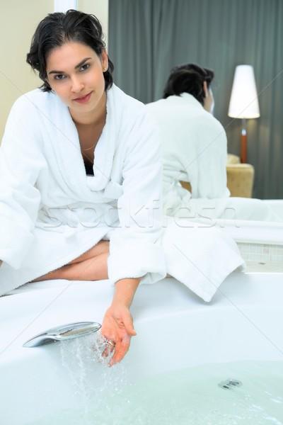Women in the bathroom Stock photo © nyul