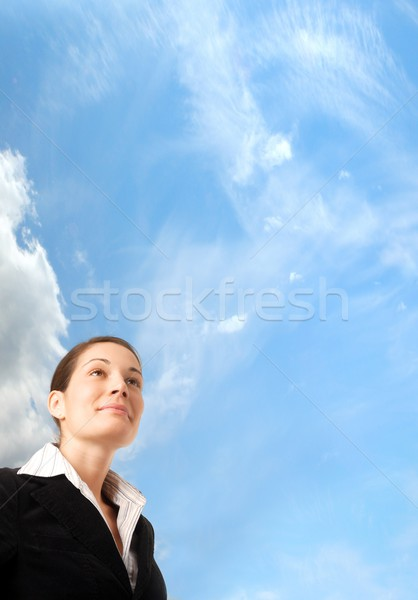 Business visie jonge ambitieus zakenvrouw Stockfoto © nyul