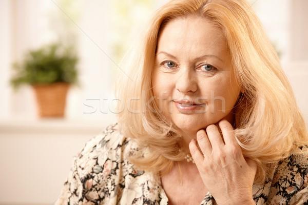 Stock photo: Portrait of smiling senior woman