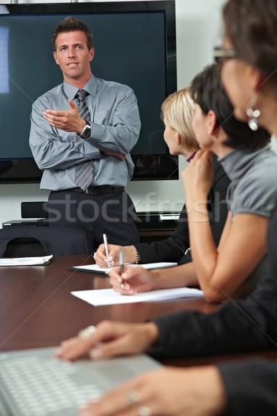 Insanlar iş eğitim işadamı oturma Stok fotoğraf © nyul