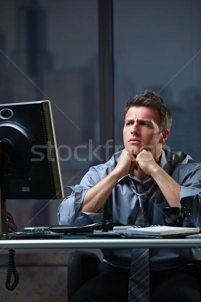 Photo stock: Déterminé · affaires · difficile · ordinateur · tâche · travail