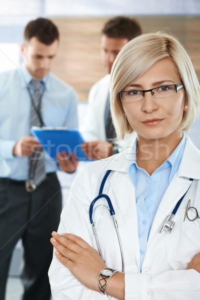Doctors on hospital corridor Stock photo © nyul