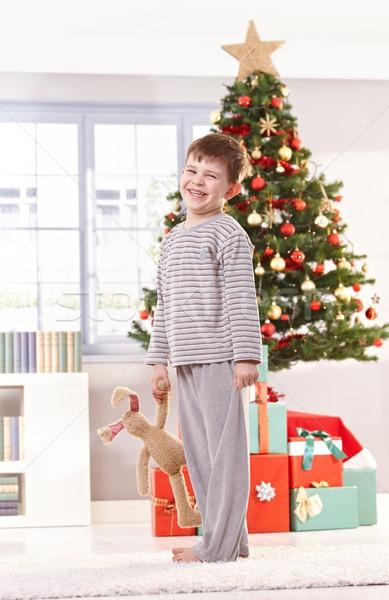 Feliz pequeño nino juguete Foto stock © nyul