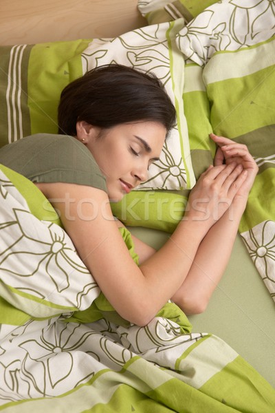 Woman smiling in sleep Stock photo © nyul