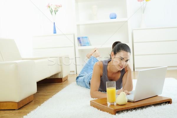 Woman browsing internet Stock photo © nyul